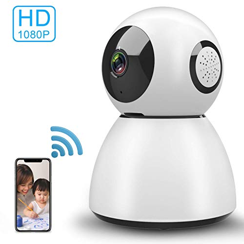 Zeetopin WiFi IP Camera Home Security Camera Indoor 1080P FHD with Night Vision Motion Detection 2 Way Audio Wireless Home Security Survelliance Pan/Tilt/Zoom Monitor for Baby/Elder/Pet Support -