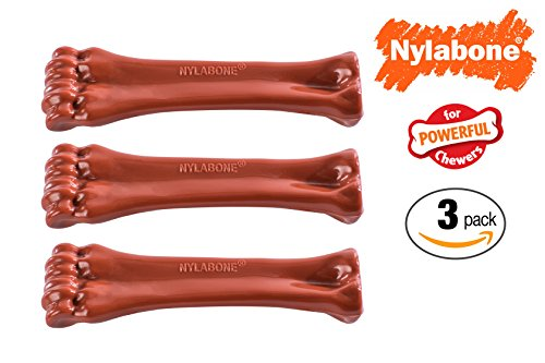 Nylabone Dog Chew Toy Powerful Chewer -3 Pack Bison ( Durable & Long Lasting ) For Sale
