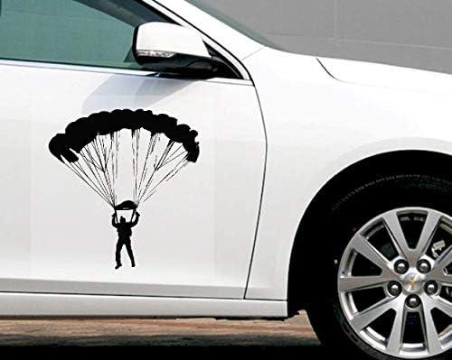 Aufkleber Für Auto Fashion Car Sticker Stimulation Fallschirmspringen Extremsport Reflektierendes Autozubehör Wasserdichtes Vinyl-Abziehbild, 17 Cm * 16 Cm