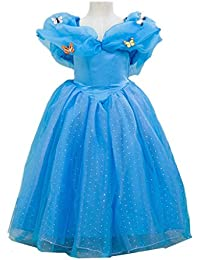 Cosplay Cinderella Butterfly Party Girls Costume Dress 2-10 Years
