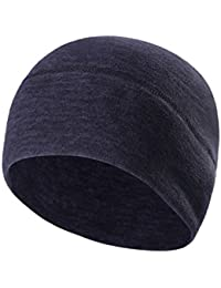 Sport Fleece Beanie Hat - Windproof Beanie Skull Cap For Men Women - Outdoor Thermal Winter Hat For Cycling Running Ski Snowboard as Helmet Liner