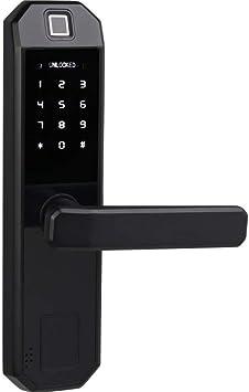 Byged Cerradura de Puerta Inteligente con Huella Dactilar desbloqueo de Llave de aplicaci/ón Bluetooth Cerradura de Palanca de Cerradura biom/étrica Inteligente contrase/ña de Huella Dactilar
