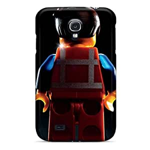 Shock Absorption Cell-phone Hard Cover For Samsung Galaxy S4 With Allow Personal Design Colorful The Lego Movie Pattern VIVIENRowland