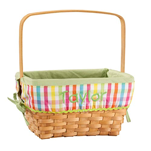 Fox Valley Traders Personalized Plaid Wicker Easter Basket]()