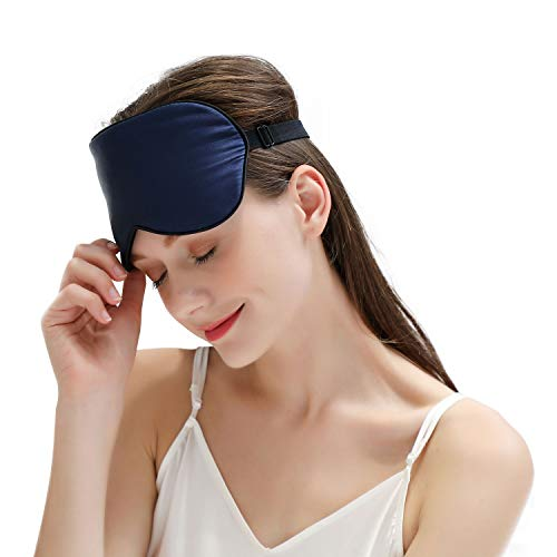 ZIMASILK 100% Natural Silk Sleep Mask ,Silk Cover Elastic Headband Adjustable,Super-Smooth Soft Eye Mask for Sleep …