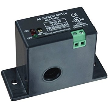 Dwyer Miniature Current Switch, MCS-111050, Solid Core, .5 to 50 A Continuous