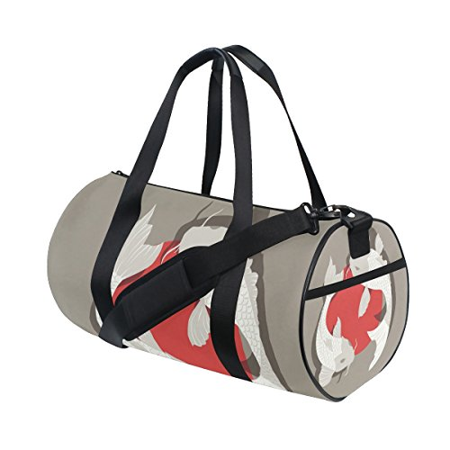Japanese Koi Fish Travel Duffel Shoulder Bag ,Sports Gym Fitness Bags by super3Dprinted