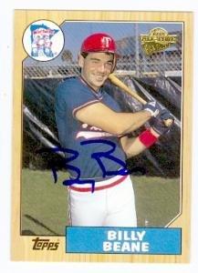 Billy Beane autographed Baseball Card (Minnesota Twins Money Ball Athletics GM) 2004 Topps Fan Favorites #89