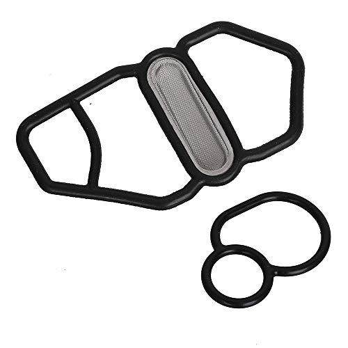 (15825-P08-005 36172-P08-015 Upper & Lower Vtec Solenoid Seal Kit Fits Honda Si B16A2 GSR B18C1 Type R B18C5 DC Upper&Lower VTEC Solenoid Gaskets)