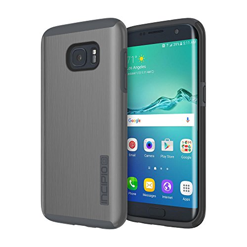 Samsung Galaxy S7 edge case, Incipio DualPro SHINE, Dual Layer Protection with Brushed Aluminum Finish Shock-Absorbing Impact-Resistant Dual-Layer Cover - (Brushed Aluminum Case)