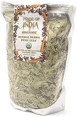 El orgullo de la India - Hierba de té orgánico hoja entera Senna ...