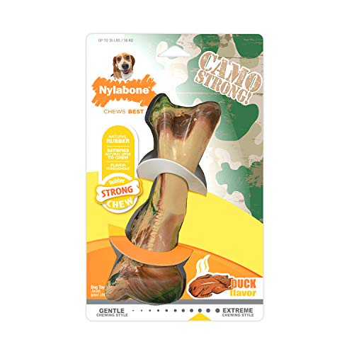 Nylabone Rubber Camo Bone Strong Chew Dog Toy