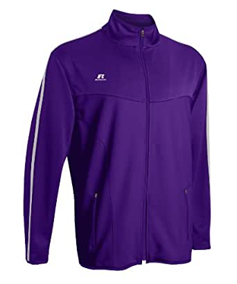Russell Athletic Men's Gameday Full Zip Jacket Purple/White XXL