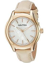 Womens NAD12000M NCT 18 MID Analog Display Quartz Beige Watch