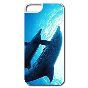 Custom Make Section Thin Fit Dolphins Under Sea IPhone 5/5s Case For Family