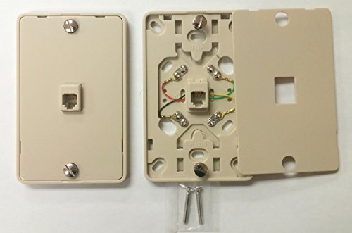 1/ NC-630A 4C IV Wall Phone Jack 4C Mounting Plate w/Screw (Wiring Telephone Wall Jack)