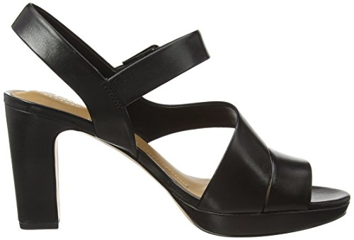 04cee0fc1423 Clarks Women s Jenness Soothe Black Leather Fashion Sandals - 8.5 UK India  (42.5 EU)  Buy Online at Low Prices in India - Amazon.in