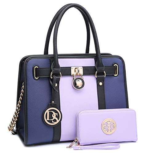 0650ac580 DASEIN Women's Fashion Handbags Shoulder Bag Satchel Purse Tote Top Handle  Work Bag 2pcs Set for