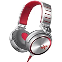 Sony MDRX10/RED X Over-the-Ear Headphones Red/Silver (Certified Refurbished)
