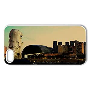 Singapore's Merlion At Dawn Watercolor style Cover iPhone 5 and 5S Case (Singapore Watercolor style Cover iPhone 5 and 5S Case)