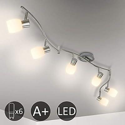 Eofiti Lámpara de Techo LED 6 Focos Giratorios Luz de Techo ...