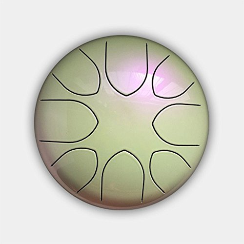 8'' Steel Tongue Drum (Bag included)-C Major Natural Scale Pearl Color by Crystal Energy Bowls