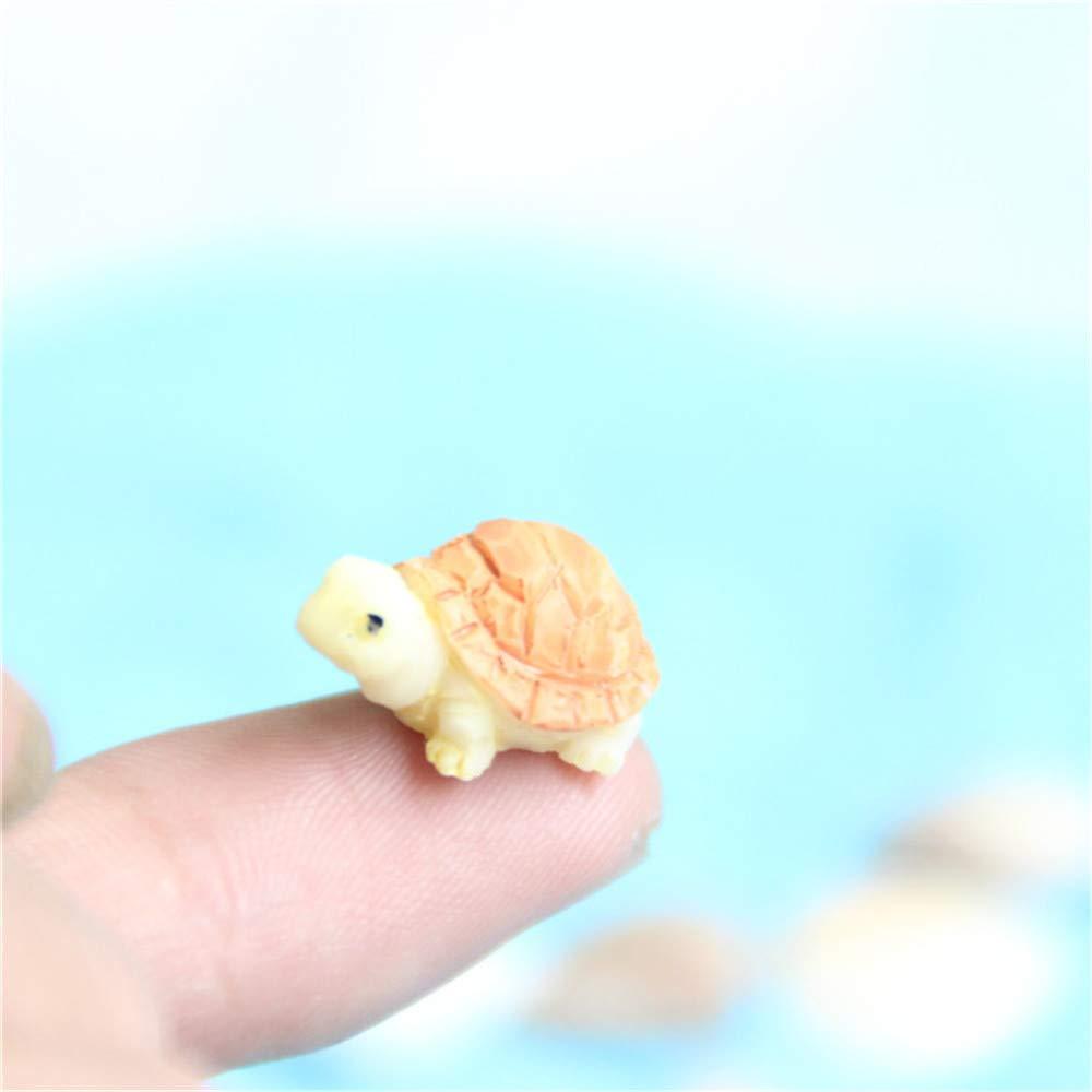 Ogquaton Lindo Mini Modelo de Tortuga Jard/ín de Hadas Miniaturas DIY Casa de Mu/ñecas Terrario Casa Escritorio Suculentas Micro Paisaje Decoraci/ón Amarillo Durable y /útil