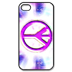 TYH - Run horse store - Just for You, Peace Sign picture for black plastic iphone 6 4.7 case ending phone case