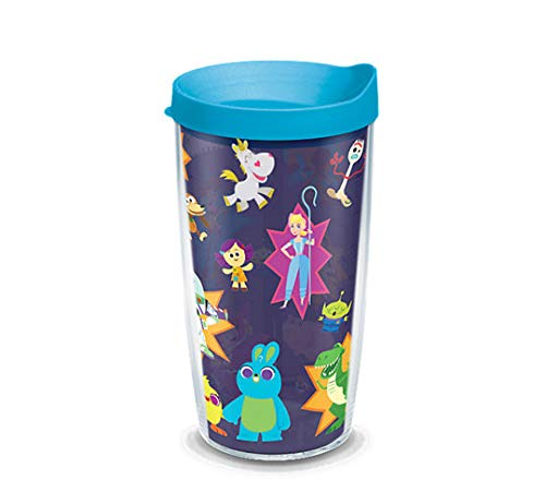 Tervis 1319853 Disney/Pixar - Toy Story 4 Collage Insulated Tumbler with Wrap and Lid, 16 oz, Clear