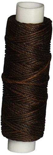 Tandy Leather Factory 1227-02 Waxed Nylon Thread, 25-Yard Spool, Brown