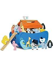 Le Toy Van Noah's Ark Shape Sorter Set Premium Wooden Toys for Kids Ages 2 Years & Up