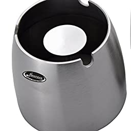Ashtray, Newness Stainless Steel Tabletop Decoration Unbreakable Home Ashtray, Big Size