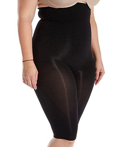 Body Wrap Women's Plus Size Full Figure The Catwalk High-Waist Panty, Black, 3X