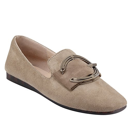 Latasa Mujeres Square-toe Flats Zapatos Beige