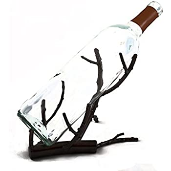decorative wine bottle holder rack accessory comes gift box plans floating glasses wall holders amazon