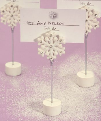 Snowflake Place Card Holders, 1