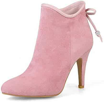 f67e68570d9 Beautiful - Fashion Women's Pointed Toe Ankle Boots Side Zipper Retro Slip  On Short Dress Booties