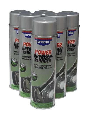6 Cans of Power Brake Cleaner / Degreaser 500 ml Motip