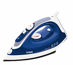 T-fal FV3756 Prima Steam Iron Non-Stick Soleplate with Anti-Drip System and Auto-Off, 1400-Watt, Blue
