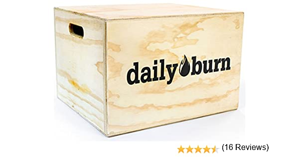 dailyburn Plyo Caja para Saltos de Caja, Aparato para Entrenamiento Ejercicios y Crossfit Training. Hecho a Mano Cajas de Madera se envía Totalmente montado.: Amazon.es: Deportes y aire libre
