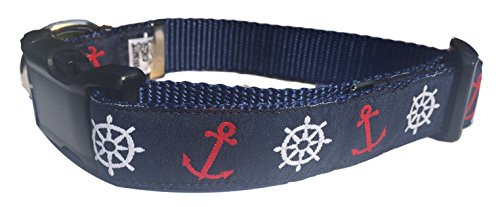 marconi-maritime-navy-blue-nautical-premium-ribbon-dog-collar-size-medium-12-17