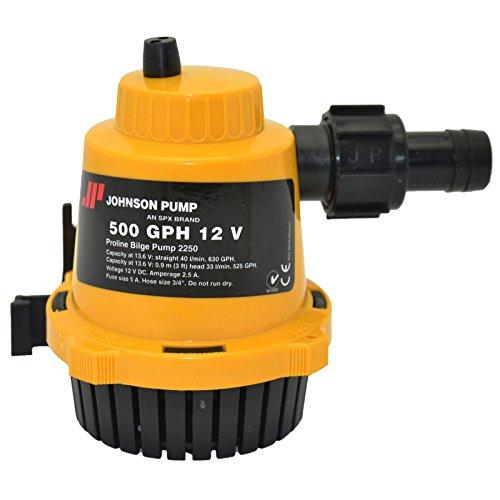 Johnson Pumps of America 22502 Marine Pro-Line 500 GPH Bilge Pump 500 Gph Cartridge Bilge Pump