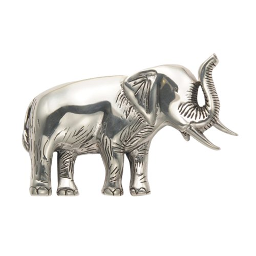 Large Sterling Silver Elephant Pin by Wild Things