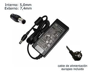 """Cargador de portátil HP Pavilion G6 G7 Alimentación, adaptador, Ordenador Portatil transformador - Marca """"Laptop Power""""® (12 meses de garantía y cable de alimentación europeo incluido)"""