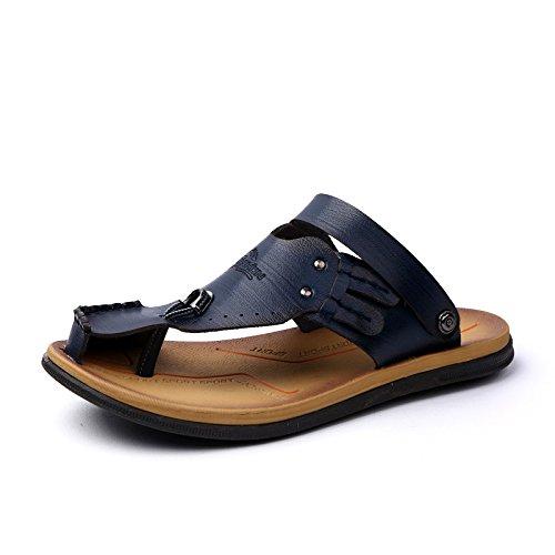 Xing Lin Sandalias De Verano Los Hombres Sandalias _ Verano Anti-Toe Kick Transpirable En La Moda Masculina Sandalias Zapatillas blue