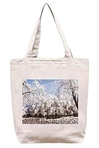 Blanco de invierno - algodón bolsa para herramientas de lona