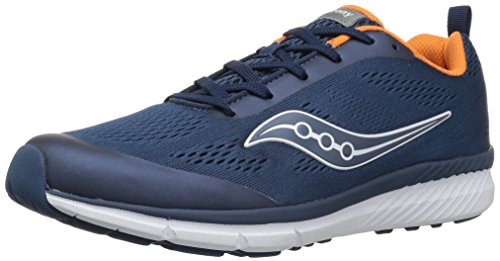 Saucony Kids' Ideal Running Shoe, Navy/Orange, 11.5 Medium US Little Kid (Saucony Grid Youth)