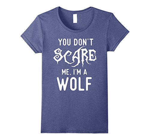 Cheap Halloween Costumes For Best Friends (Womens Funny Wolf Shirts Halloween Costume Joke Gag Wolfpack Gifts. Medium Heather Blue)