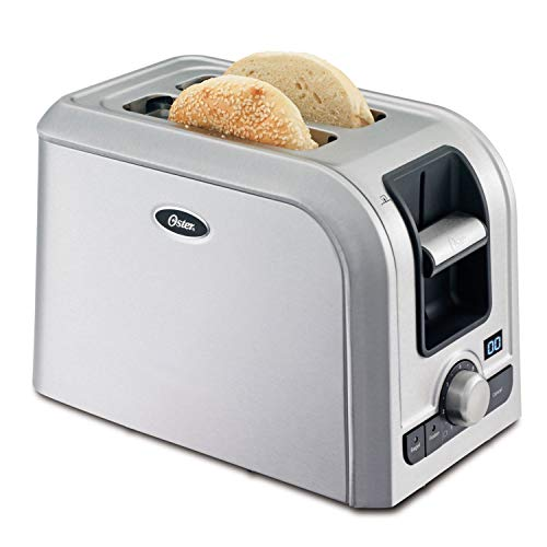 (Oster 2-Slice Digital Countdown Toaster, Brushed Stainless Steel)
