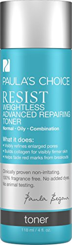 Paula's Choice-RESIST Weightless Advanced Repairing Toner-for Oily Skin Combination Skin-Fight Signs of Aging-Pore Refining - 4 oz by Paula's Choice